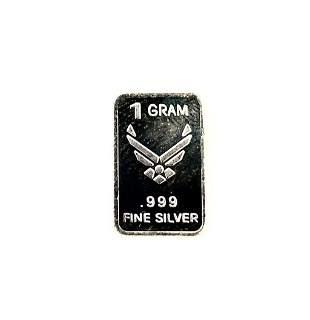 Novelty 1 Gram .999 Silver Bar - U.S Air Force 'Aim