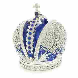 Bejeweled Royal Crown Inspired Jewelry Trinket Box