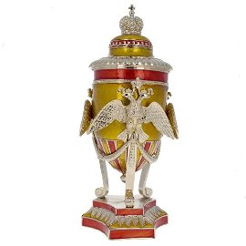 Russian Imperial Double-Headed Eagle Royal Inspired Egg