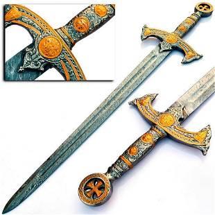 THE CRUSADERS Damascus Steel Sword