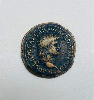 Nero 54-68 AD - AE AS Lugdunum Mint Roman Coin