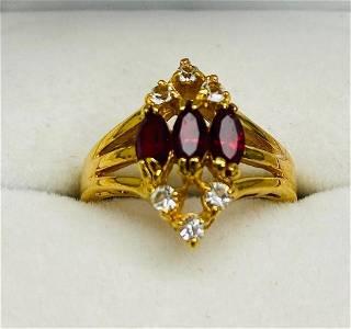 Designer Triple Set Swarovski Purple & Clear Crystals