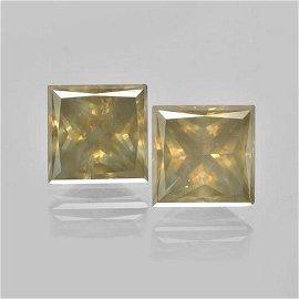 3.4ct Princess Cut Champagne Diamonds