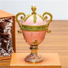 5.5†Pink Amphora Enameled Royal Inspired Russian Egg