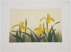 1984 Vintage 'Yellow Irises' Serigraph By An Canadian