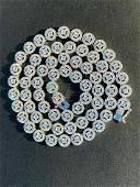 "20"" Solid 925 Silver & Diamond Tennis Chain Choker 8mm"