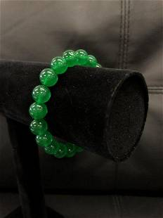 This Beautifully Crafted Asian Green Jade Beaded