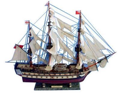 """HMS Leopard Tall Model Ship 36"""""""