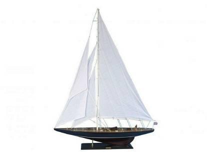 "Wooden Endeavour Model Sailboat Decoration 60"""