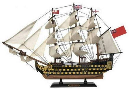 """Wooden HMS Victory Limited Tall Model Ship 24"""""""