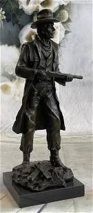 Art Deco Western Art Cowboy Sheriff with Gun Bronze