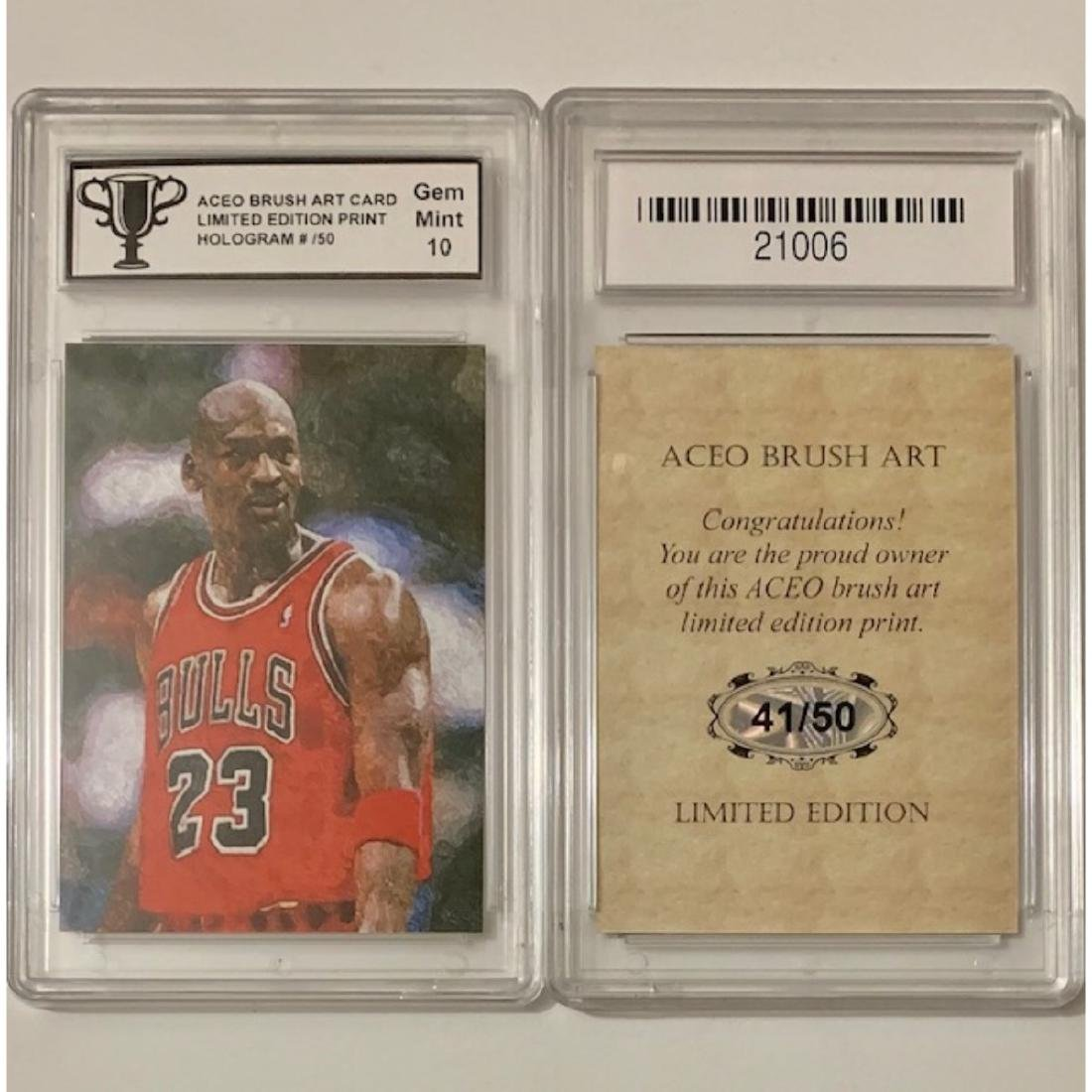 MICHAEL JORDAN Limited Edition ACEO Brush Art