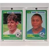 1989 Score BARRY SANDERS  TROY AIKMAN Rookie Football