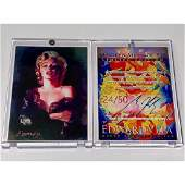 Rare MARILYN MONROE Giclee Art Card Hand Signed by