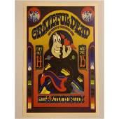 The GRATEFUL DEAD Live Hill Auditorium Concert Poster