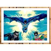 Awesome D.C. Comics BATMAN & ROBIN Giclee Art Print on
