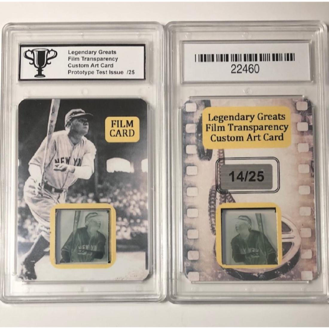 Scarce BABE RUTH Prototype Test Film Transparency