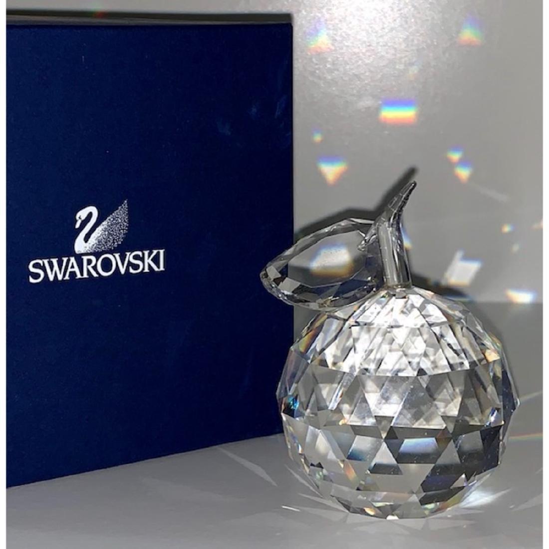Brilliant SWAROVSKI Crystal Apple Signed Paperweight