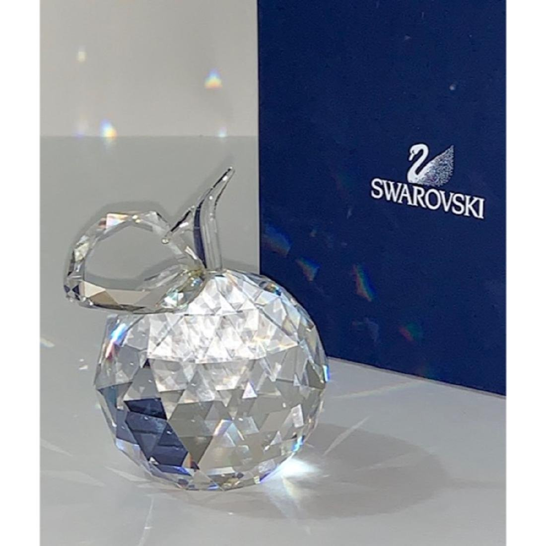 Brilliant SWAROVSKI Crystal Apple Signed Paperweight - 2