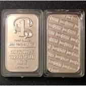 One Troy Oz NORTHWEST TERRITORIAL MINT .999 Fine Silver