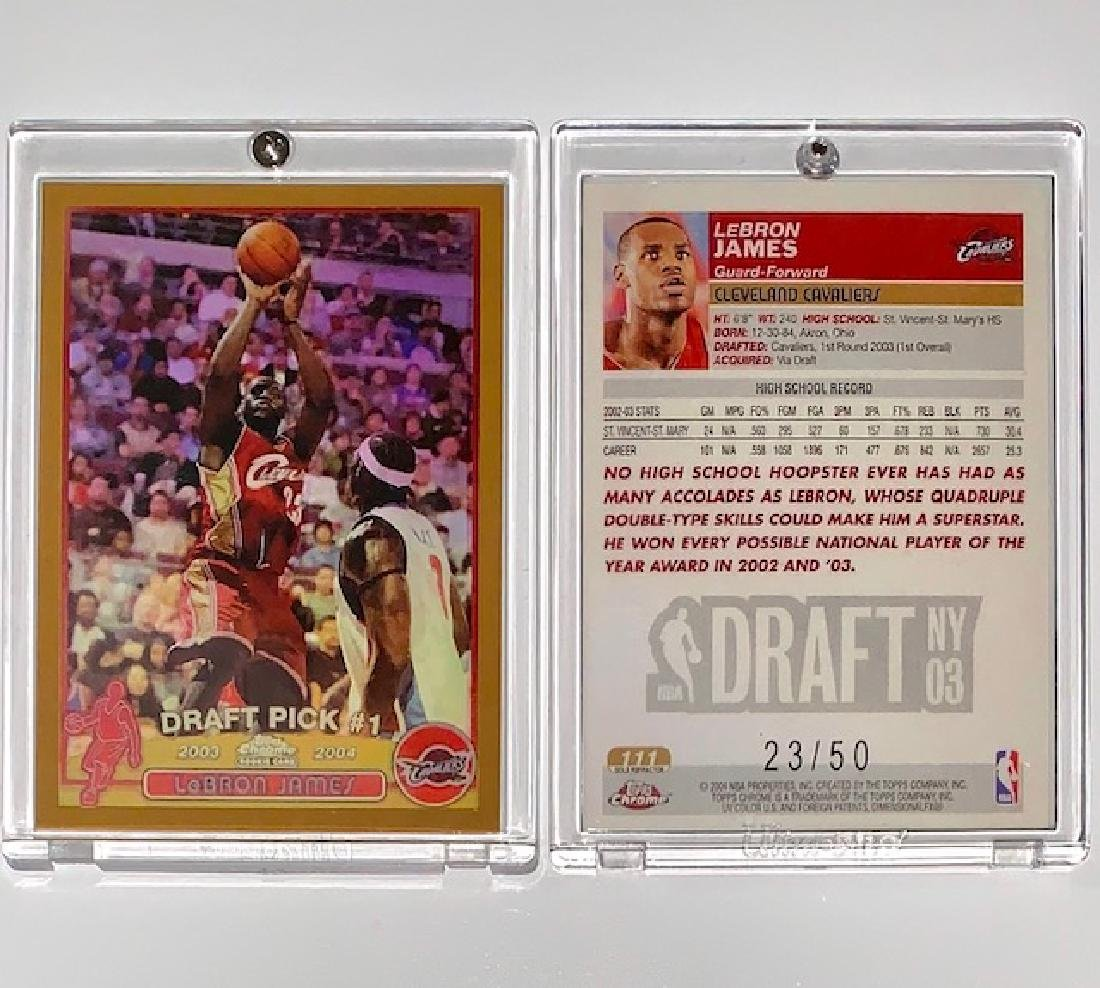Lebron James Topps Rookie Rp Basketball Card