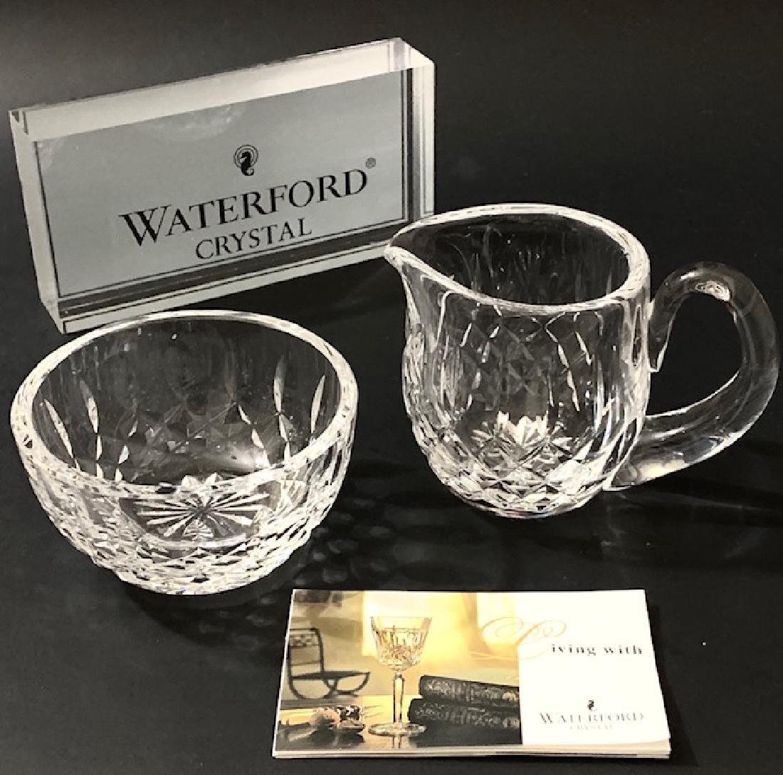 WATERFORD Crystal LISMORE Design Creamer & Sugar