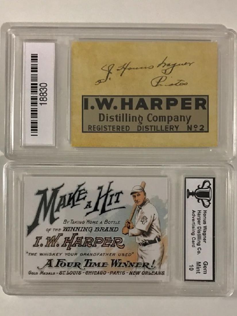 Gem 10 HONUS WAGNER Advertising Baseball Card
