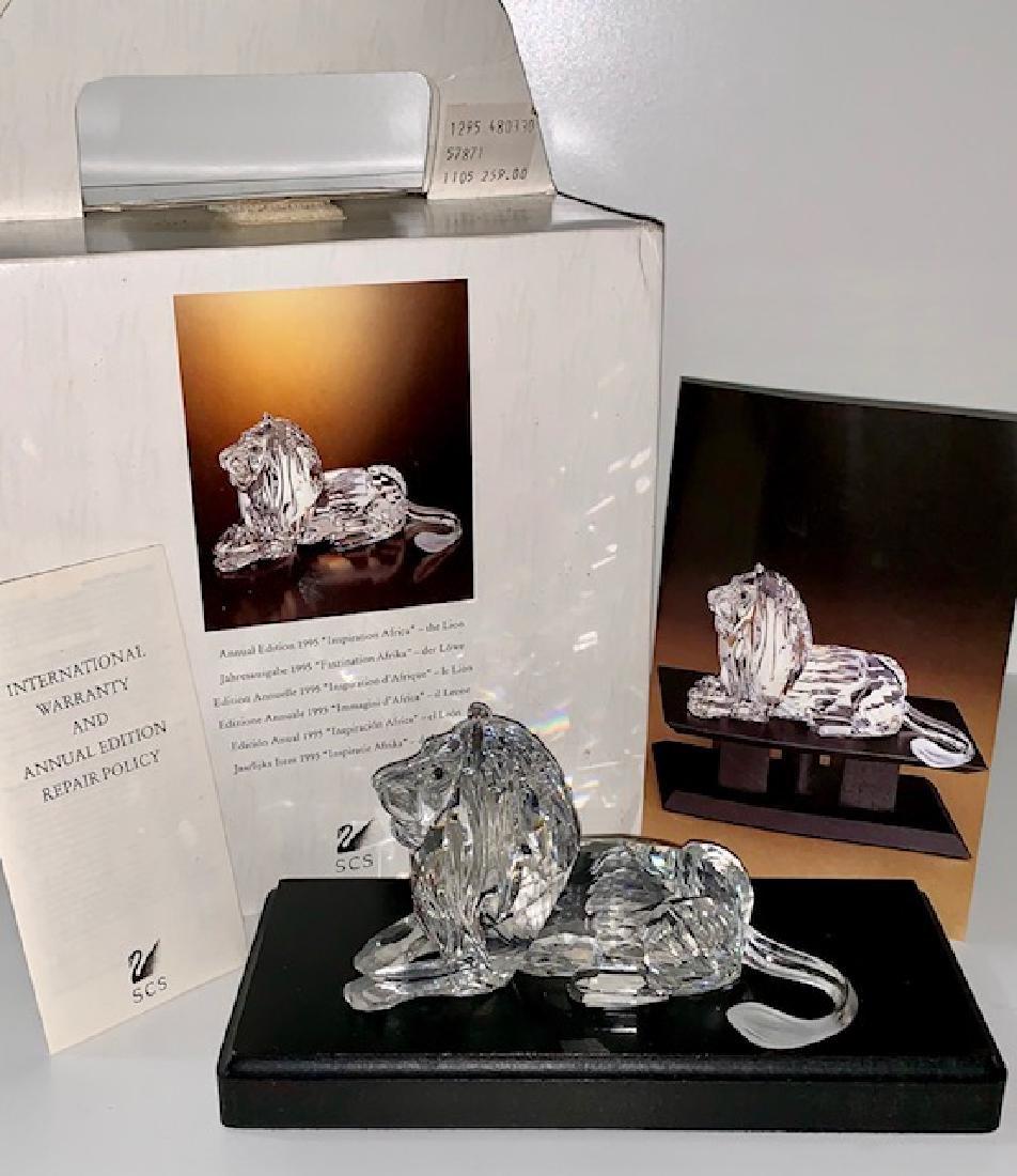 Large SCS 1995 SWAROVSKI Crystal African LION