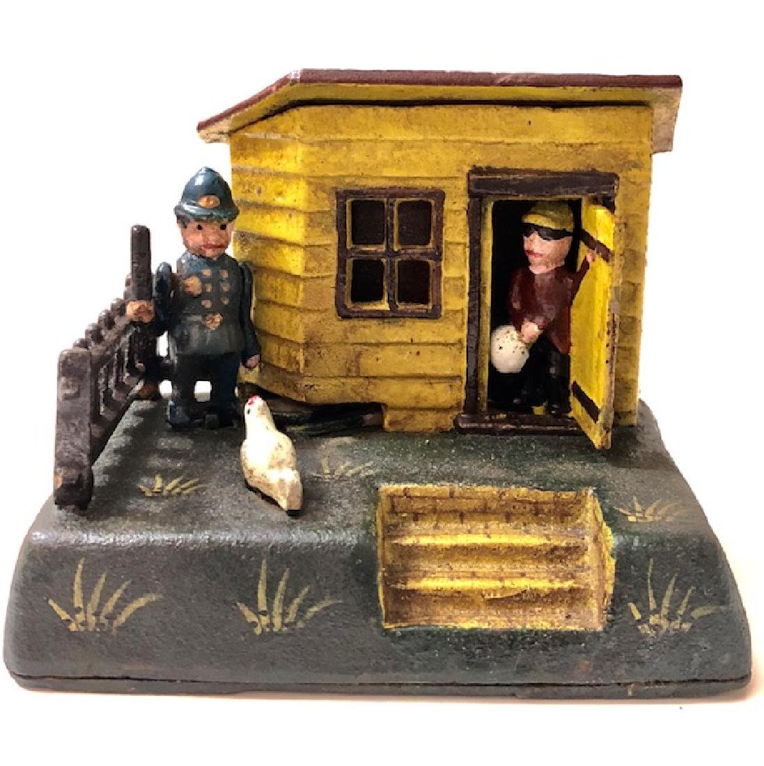 Cast Iron Cops & Robbers UNCLE REMUS Mechanical Bank