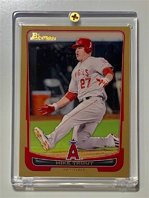 Mike Trout Bowman Gold Rookie Baseball Card