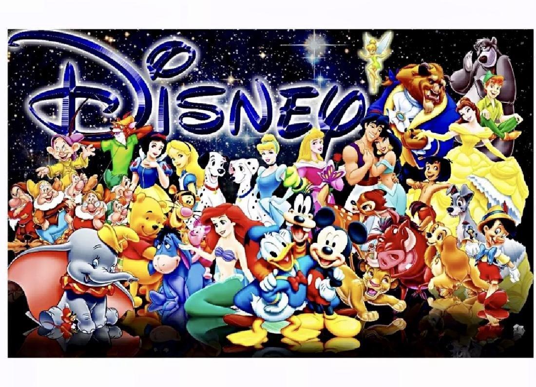 Walt Disney & Characters Giclee Art Canvas Print