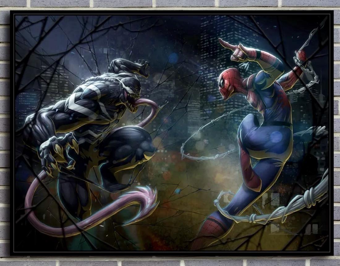 Spider-Man vs. Venom Giclee Canvas Art Print