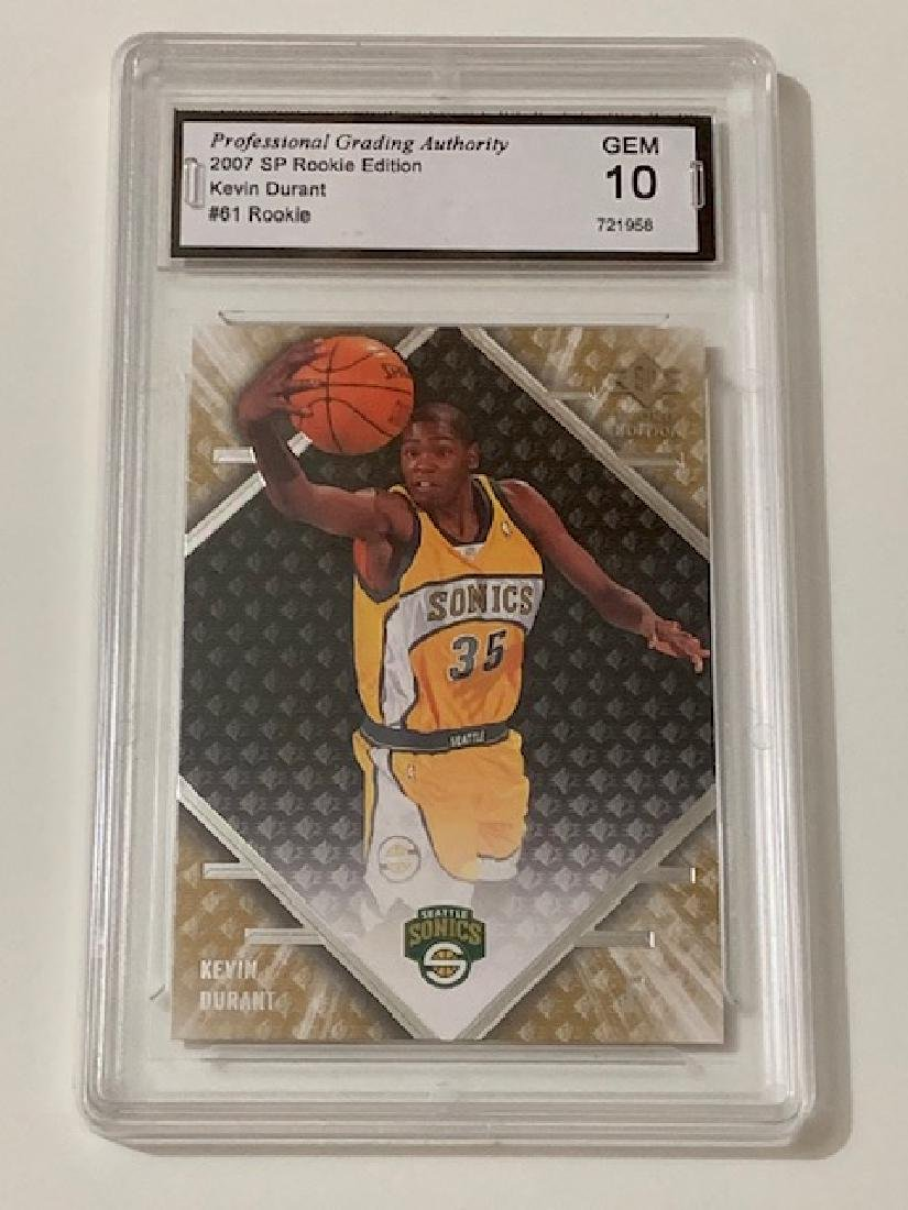 Gem Mint 10 Kevin Durant Rookie Basketball Card
