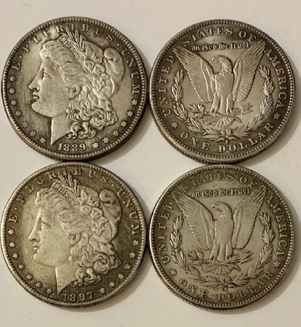 1887 & 1889 United States Morgan Silver Dollars/READ ON