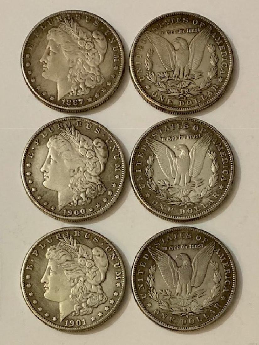 1897/1900/1901 United States Morgan Silver Dollars/READ