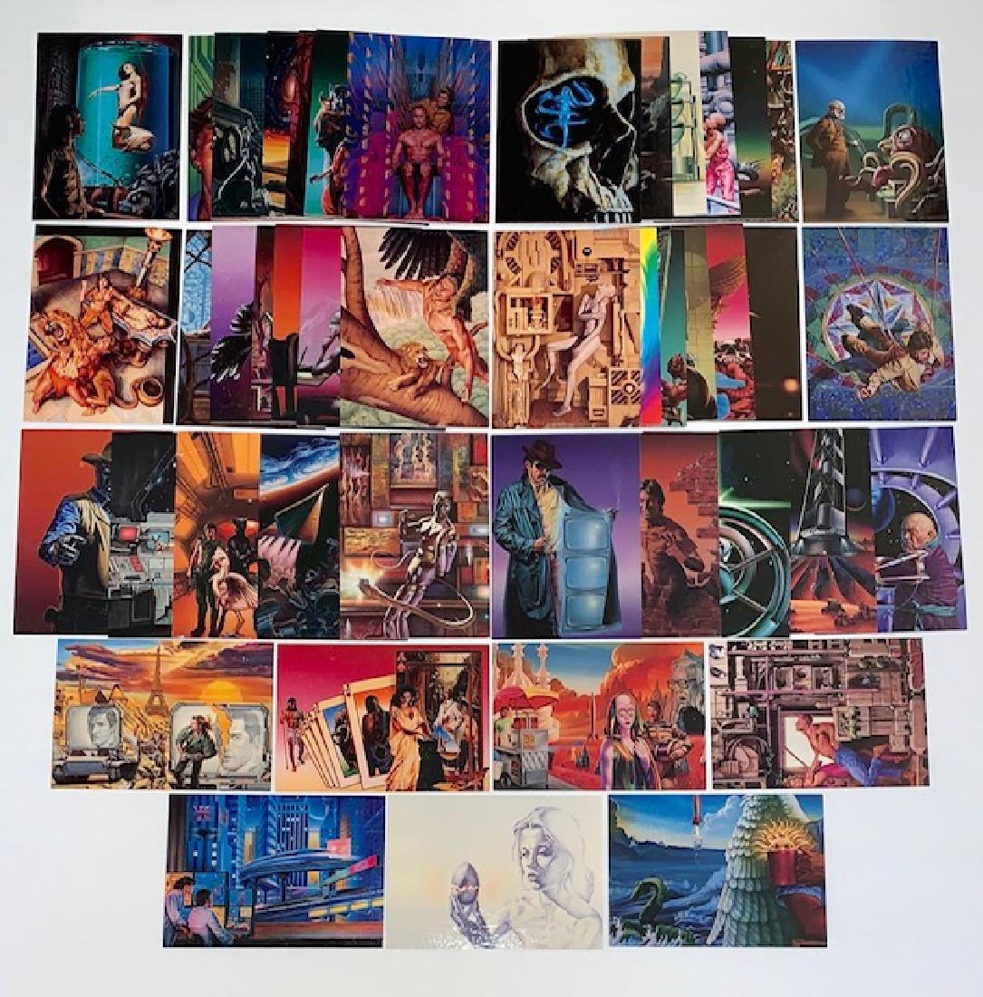 45 Rare BARCLAY SHAW SCI-FI and Fantasy Art Cards