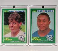 BARRY SANDERS  TROY AIKMAN Rookie RP Football Cards