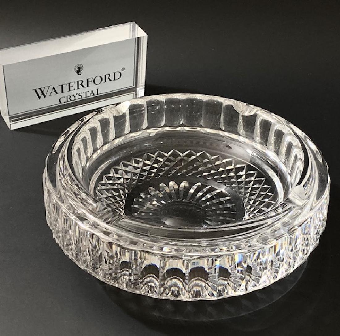 WATERFORD Crystal LISMORE Pattern LG Heavy Ashtray