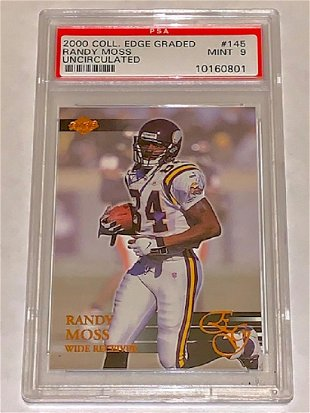 1998 Autographed Randy Moss Rookie Football Card Mar 27