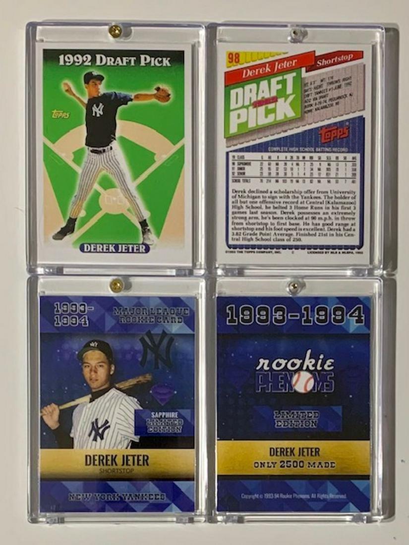 Lot Of 2 Derek Jeter 1993 Mlb Rookie Baseball Cards