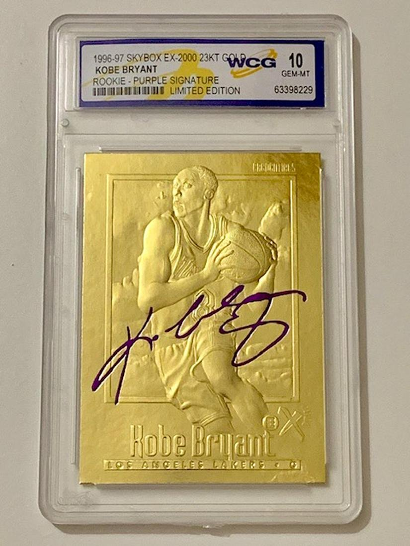 Kobe Bryant 23k Gold Signature Edition Rookie Card