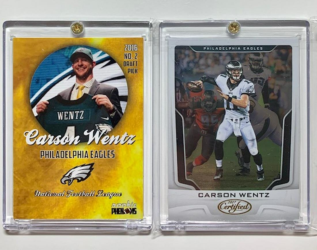 Lot Of 2 Carson Wentz Rookie Football Cards