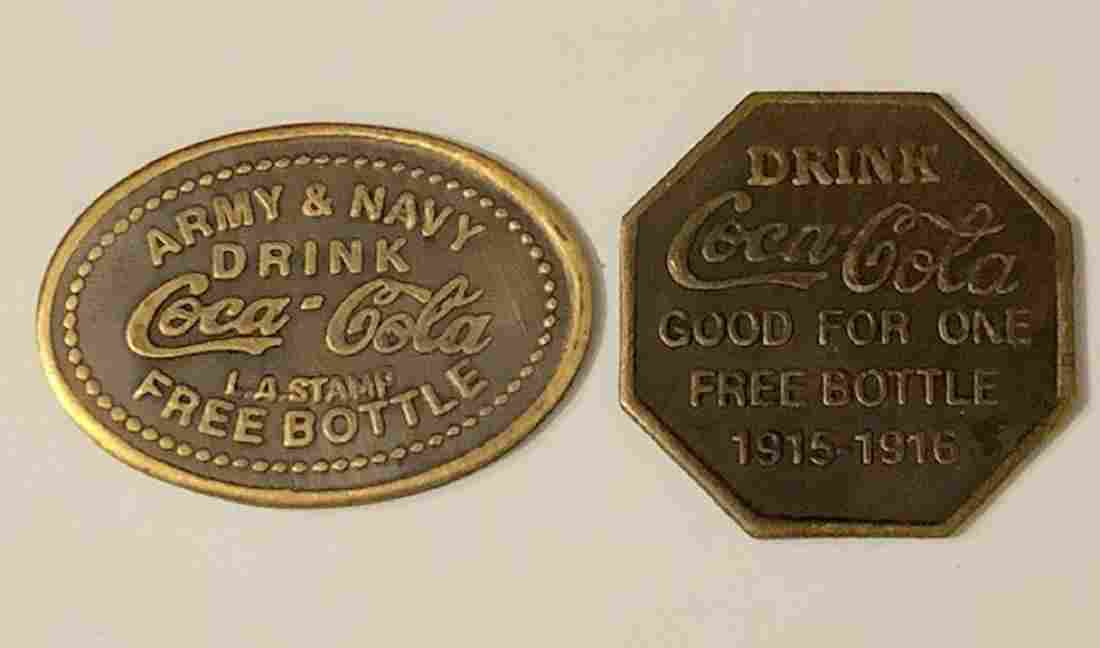 1915 Army/Navy COCA-COLA War Time Redemption Tokens
