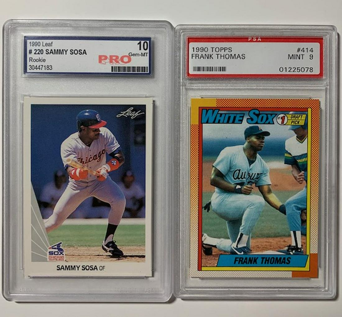 Frank Thomas And Sammy Sosa Rookie Baseball Cards