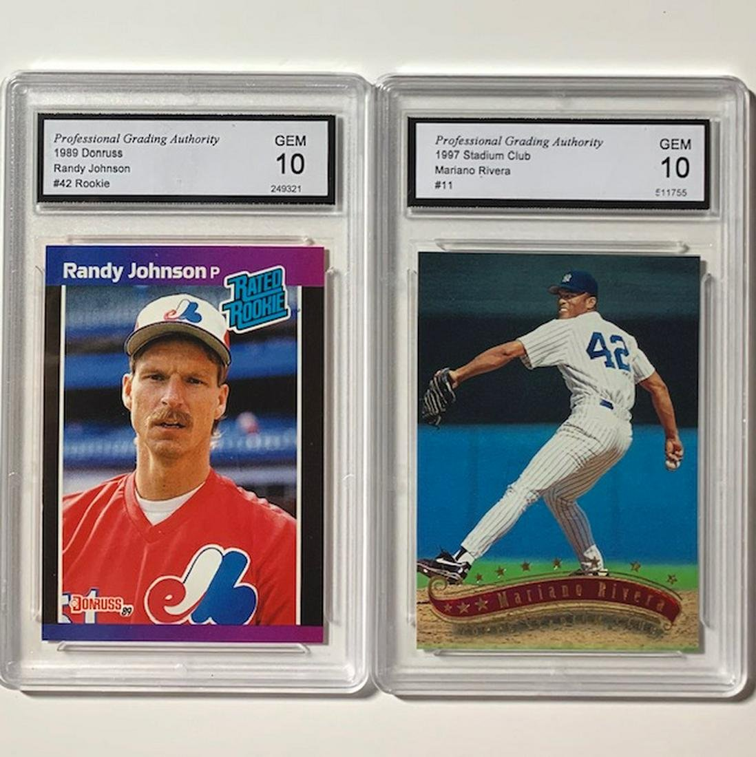 Mariano Rivera Randy Johnson Rookie Baseball Cards