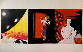 Lot of 3 ERTE Art Deco Art Lithographs 8 x 10