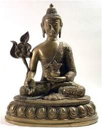 19 th  Century Bronze Tibetan Bodhisattva Buddha Statue
