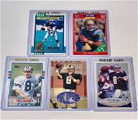Lot of 5 TROY AIKMAN Rookie Football Cards