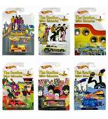 Set of 6 BEATLES Yellow Submarine Hot Wheels Toy Cars