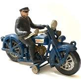 LG Cast Iron Harley Davidson Toy Policeman Motorcycle